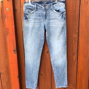 Ann Taylor Loft distressed relaxed skinny jeans